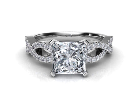 Princess Infinity Engagement Ring