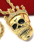 Mark P. Custom Order King Skull Pendant