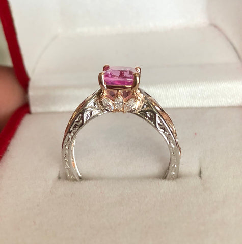 Sapphire Fairy  Engagement Ring