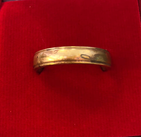 5mm Rustic Wedding Band in 14k Rose Gold