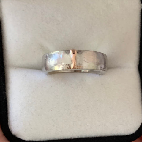6mm Sand Casted Platinum Band