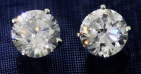 14k gold Moissanite 1 ctw Stud Earrings