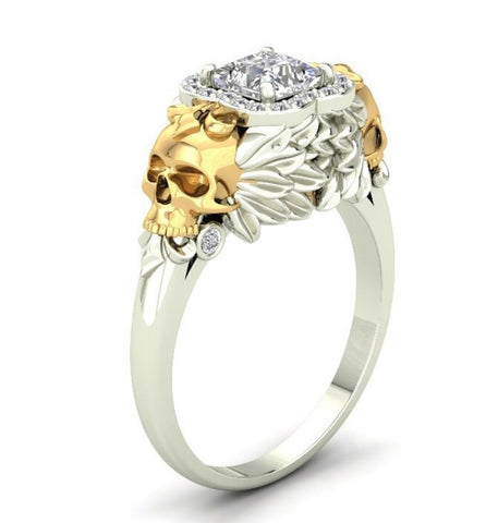 Angel Skulls Engagement Ring