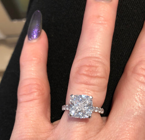 The Kaitlyn Cushion Cut Engagement Ring