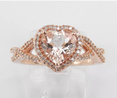 Morganite Heart In Rose Gold