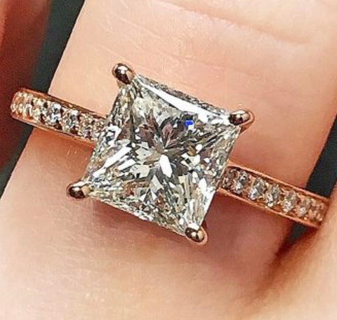 1 ct Princess Cut Engagement Ring