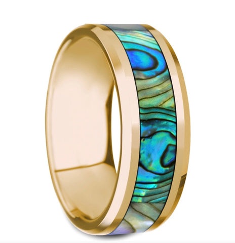 14k Gold Abalone Band
