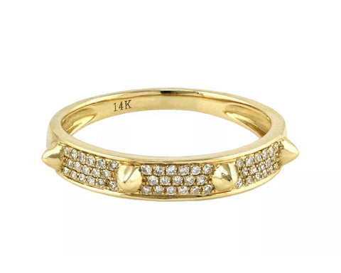14k pave' diamond stud band