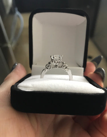 Cinderella Pumpkin Carriage Engagement Ring