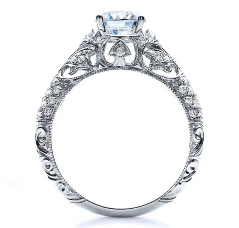 Filigree Love Engagement Ring