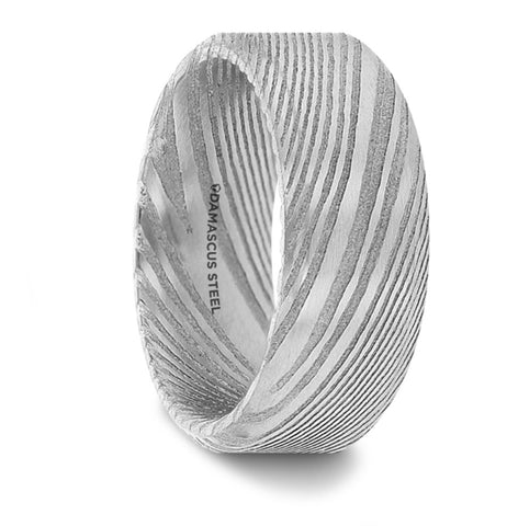 GHOST Damascus Steel Men's Wedding Band