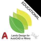 Lands Design Educational for Rhino or AutoCAD