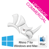 Rhino 7 Commercial Upgrade Single User [R70U] for Windows or Mac