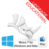 Rhino 7 Educational Upgrade Single User [R70U-E] for Windows or Mac