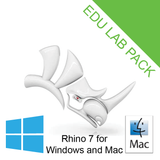Rhino 7 Educational 30-user lab [R70-LAB] for Windows or Mac (Requires 64bit Windows 10, 8.1, macOS 10.15.7 (Catalina) or macOS 10.14.6 (Mojave))