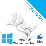 Rhino 7 Commercial Single User (R70) @ USD $995 (Requires 64bit Windows 10, 8.1, macOS 10.15.7 (Catalina) or macOS 10.14.6 (Mojave))