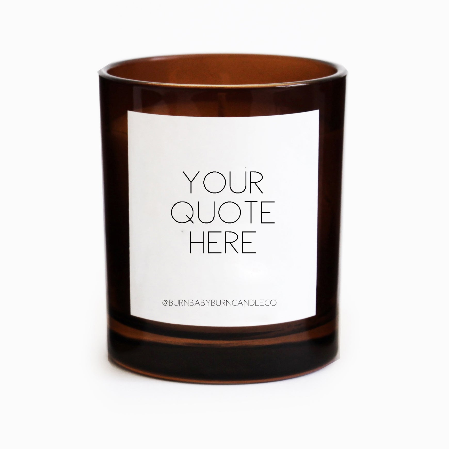 Custom Quote Candle Option (Three) AMBER