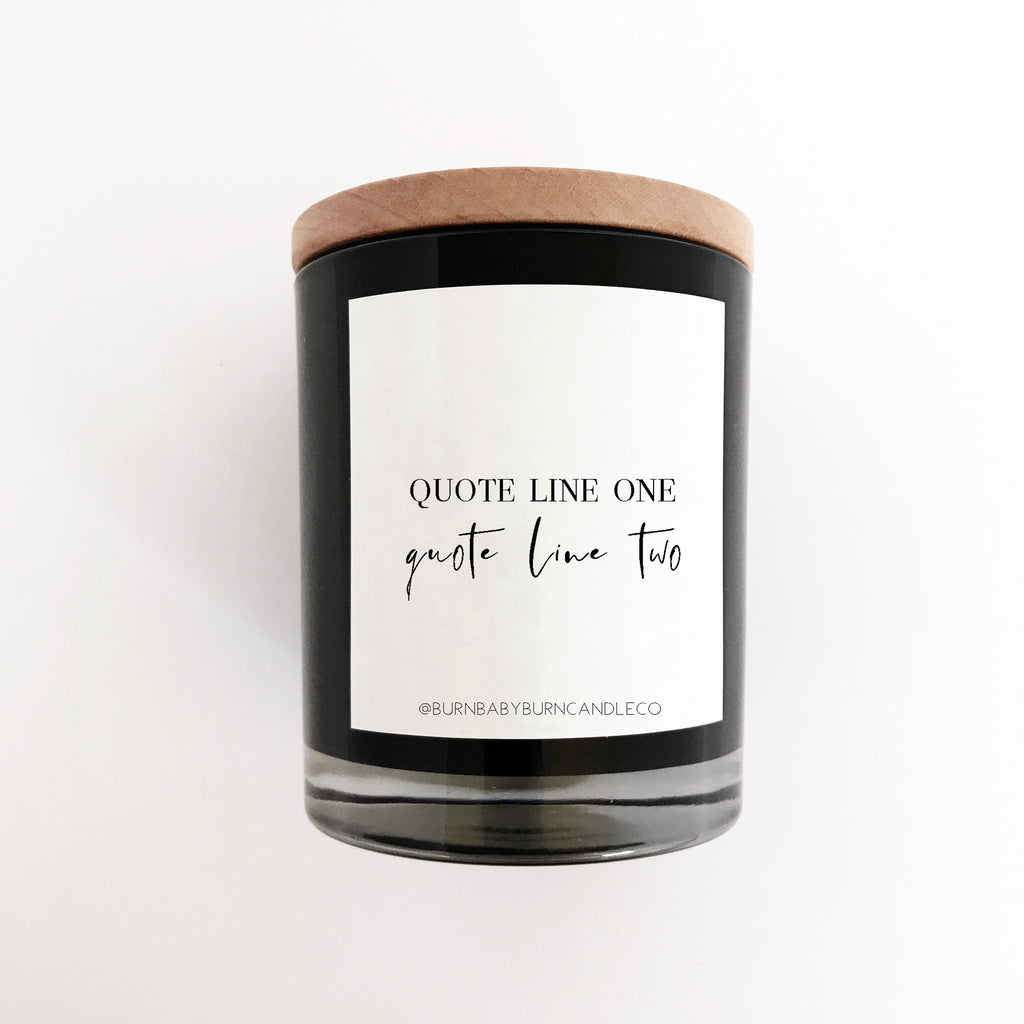 Custom Quote Candle Option (Four) BLACK