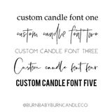 Custom Quote Candle White