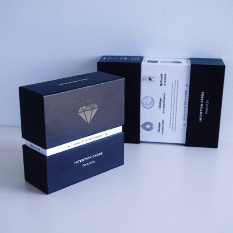Luxe Boxed Intention Cards & Display Stand