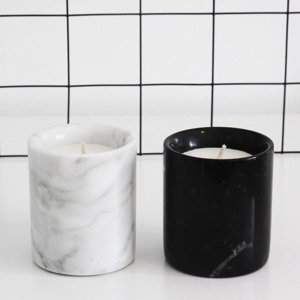 Mini Carrara Marble Candle