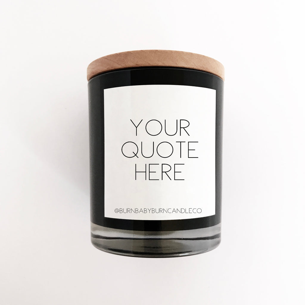 Custom Quote Candle Option (Three) BLACK