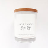 Home Is Where - Customisable Quote, WHITE