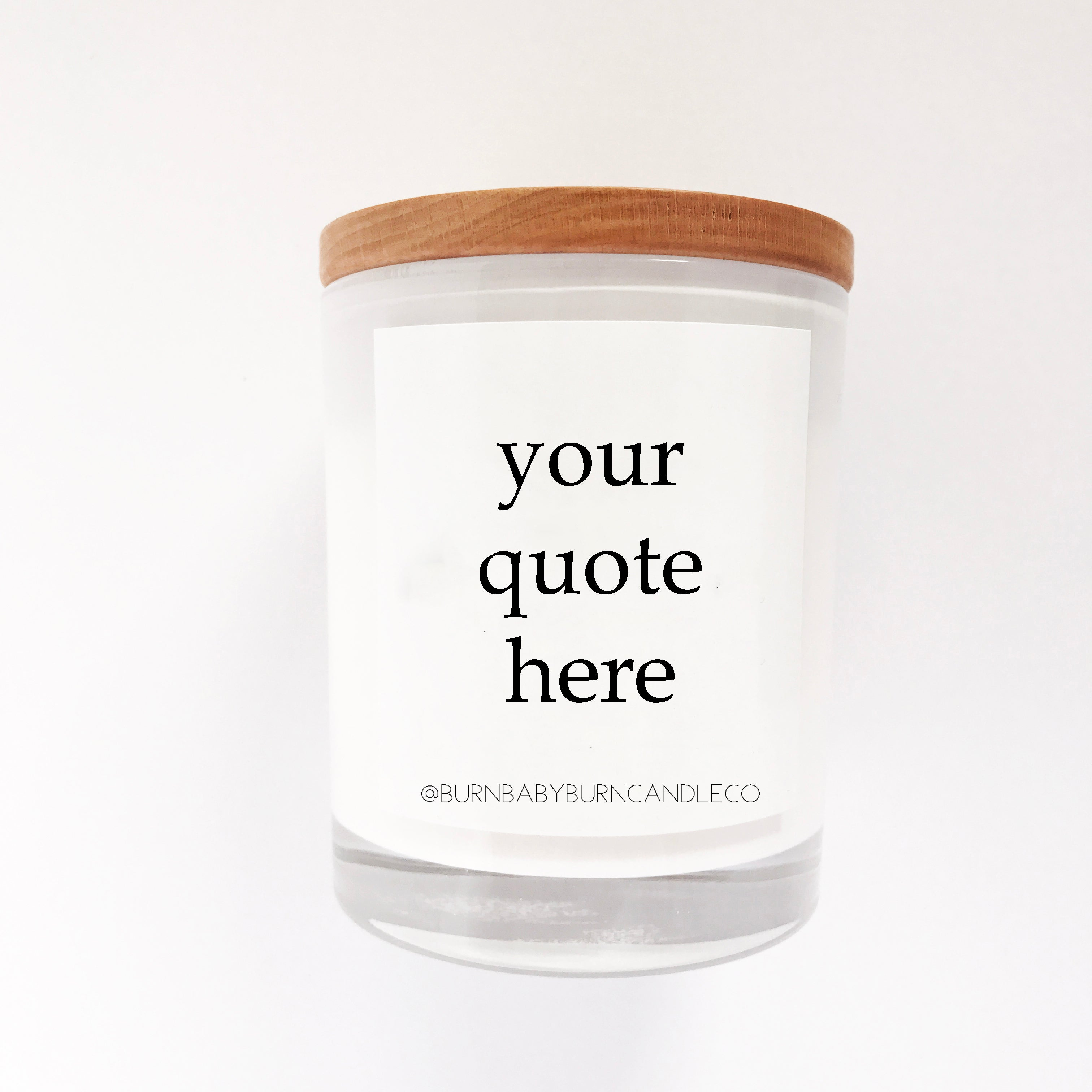 Custom Quote Candle Option (One) WHITE