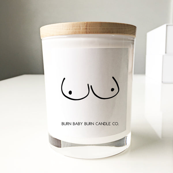Breast Cancer Candle - White