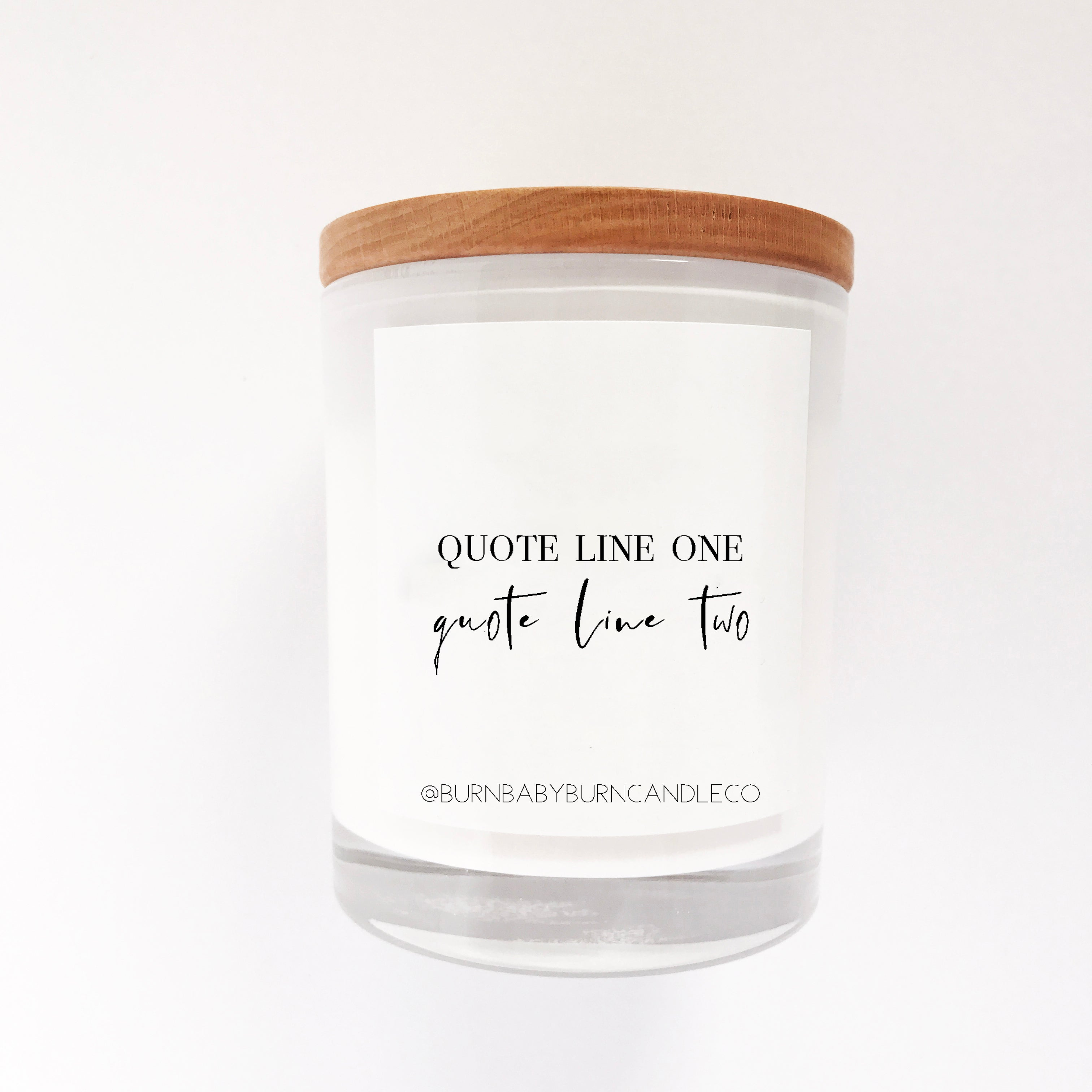 Custom Quote Candle Option (Four) WHITE