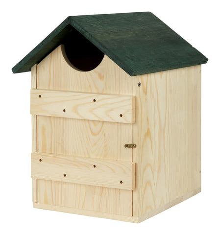 Wooden Owl House Nesting Box for Owls Bird house