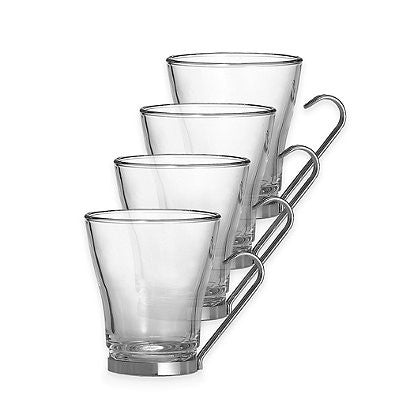 Glassware - Cappuccino Mug with Stainless Steel handle