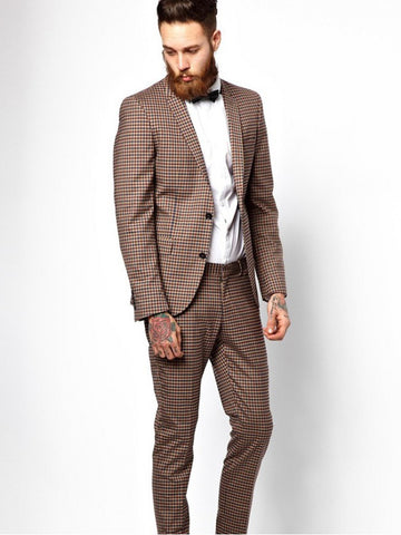 Slim Fit Suit Left Panel