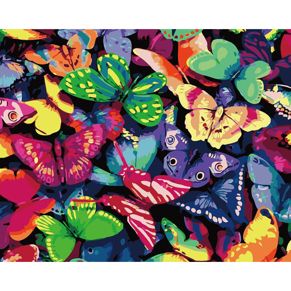 "DIY Painting By Numbers - Butterflies(16""x20"" / 40x50cm)"