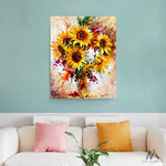 "DIY Painting By Numbers - Yellow Sunflower (16""x20"" / 40x50cm)"