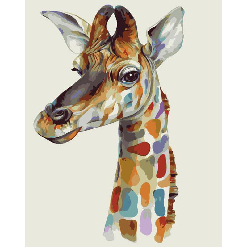 "DIY Painting By Numbers - Giraffe (16""x20"" / 40x50cm)"