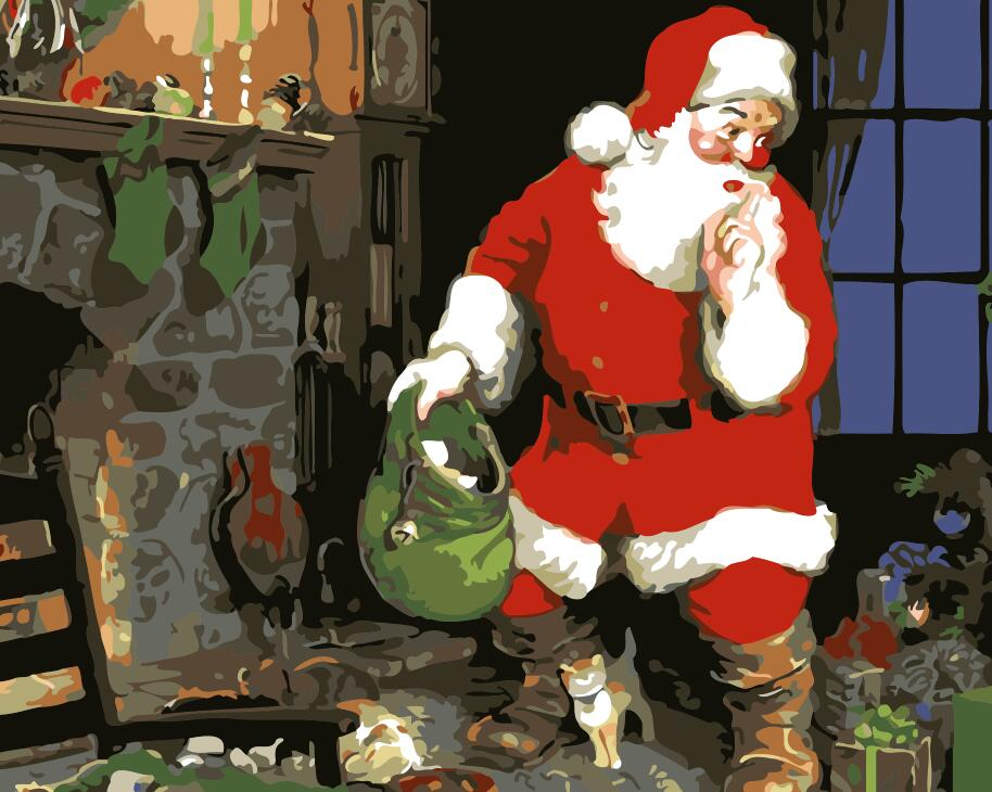 "DIY Painting By Numbers -  Santa Claus (16""x20"" / 40x50cm)"