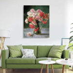"DIY Painting By Numbers - Pink and Red Peony(16""x20"" / 40x50cm)"