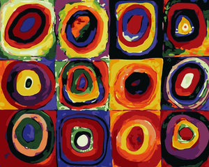 "DIY Painting By Numbers -Circle (16""x20"" / 40x50cm)"