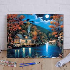 "DIY Painting By Numbers - Fantasy Rural Landscape (16""x20"" / 40x50cm)"