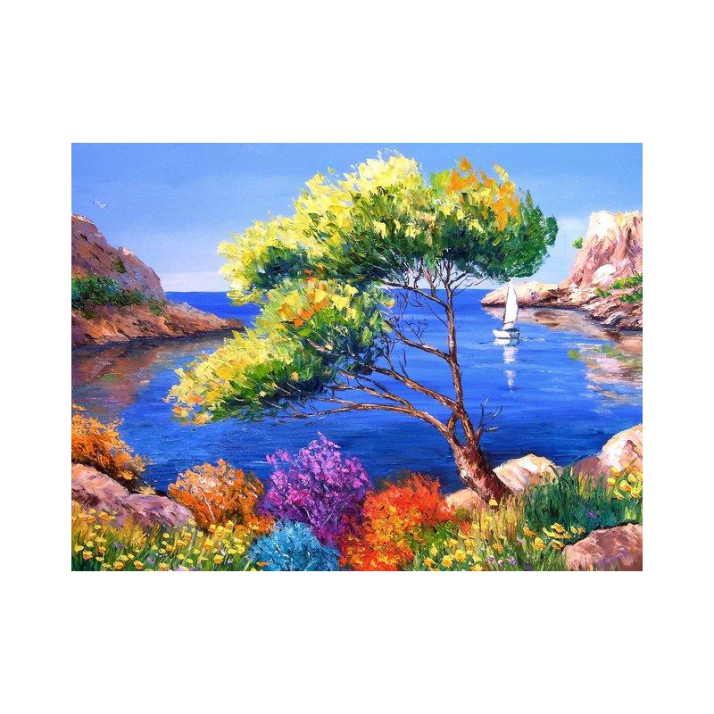 "DIY Painting By Numbers -Colorful-0223  (16""x20"" / 40x50cm)"
