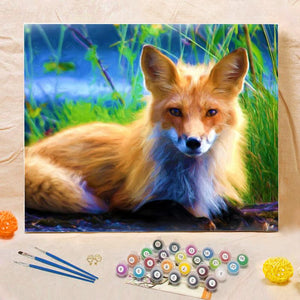 "DIY Painting By Numbers -Spirit Fox-0223  (16""x20"" / 40x50cm)"