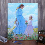 "DIY Painting By Numbers -Mother and daughter  (16""x20"" / 40x50cm)"