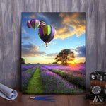 "DIY Painting By Numbers - Romantic Balloon (16""x20"" / 40x50cm)"