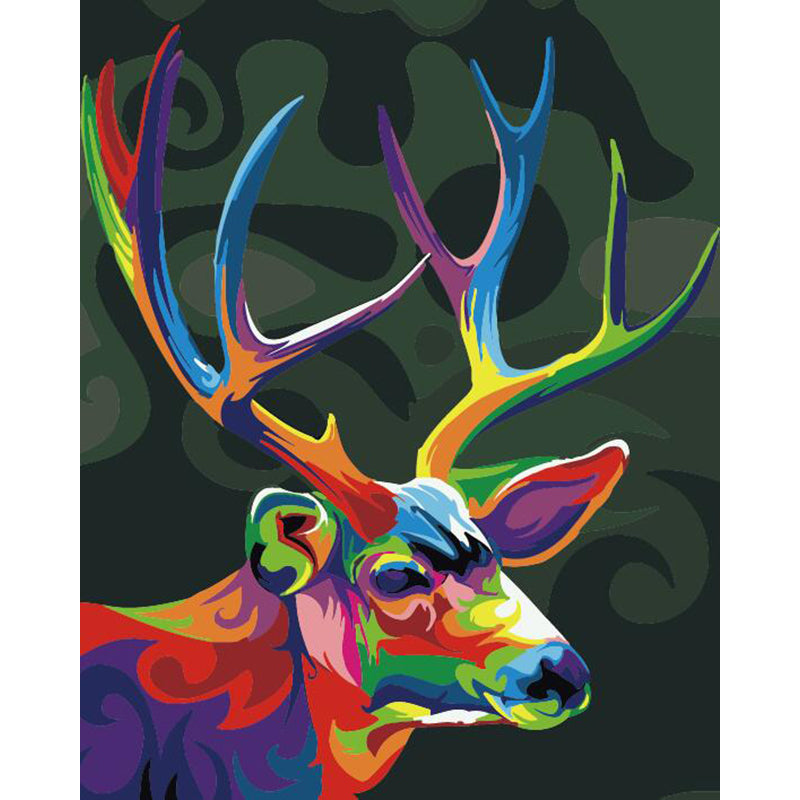 "DIY Painting By Numbers - Colorful Deer (16""x20"" / 40x50cm)"