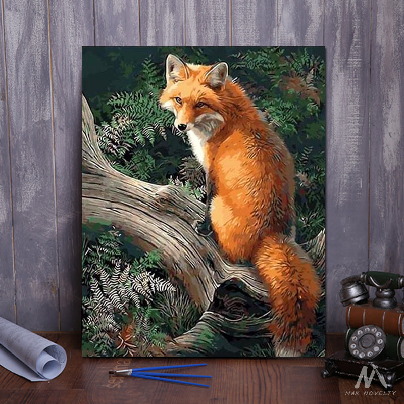 "DIY Painting By Numbers - Fox (16""x20"" / 40x50cm)"