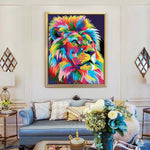 "DIY Painting By Numbers - Lion (16""x20"" / 40x50cm)"