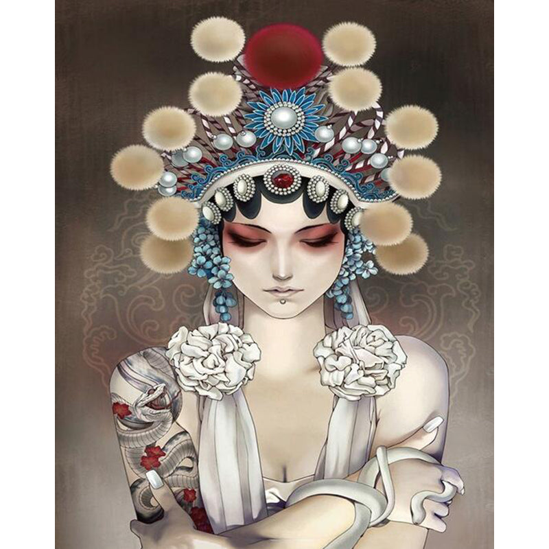 "DIY Painting By Numbers -Chinese Opera Girl (16""x20"" / 40x50cm)"