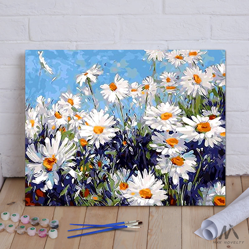 "DIY Painting By Numbers - Daisies (16""x20"" / 40x50cm)"
