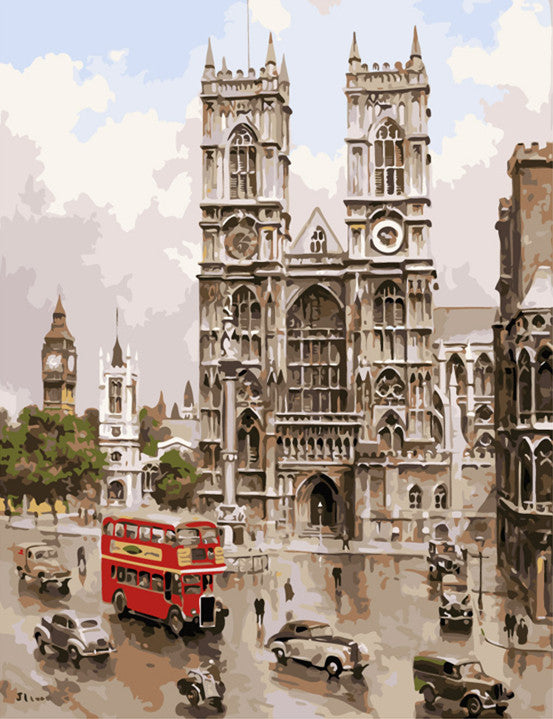 "DIY Painting By Numbers - Westminister Abbey (16""x20"" / 40x50cm)"